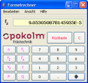 Formelrechner Screenshot