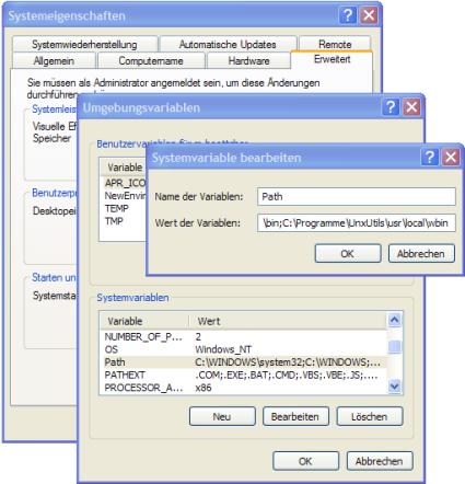 Screenshot Systemeigenschaften