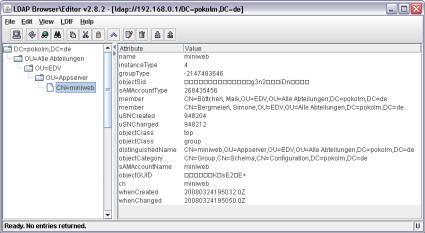 Screenshot LDAPBrowser